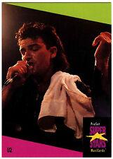 U2 #140 ProSet Super Stars MusiCards 1991 Trade Card (C376)