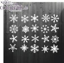 SET Eiskristalle ●︎ Schneeflocken Aufkleber ●︎ Weihnachten Fensteraufkleber Deko