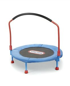 Trampoline Little Tikes 3' Indoor Kids Bounce Jumping Play Fun Safety Bar