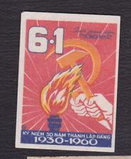 Ancienne petite étiquette allumettes Chine BN122150 Torche Vietnam ?