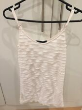 Cream Sparkle Frilly Ruffle Bodycon Vest Top/mini Dress ATMOSPHERE Uk 8 NWOT