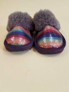UGG Fluffy Purple Slippers