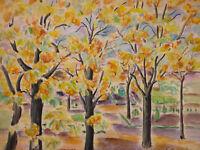 - Evelyn - Dufau (?-1937) Watercolour: View Jardin Au Morocco? Orientalism