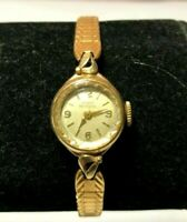 Vintage Girard Perregaux 10K Yellow Gold filled 17J manual wind women's watch