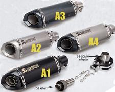 Universal Motorcycle Exhaust Pipe Laser Marking Akrapovic 51mm DB killer Muffler