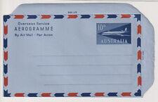 AUSTRALIA 1960: folded unused 10d aerogramme H&G FG12 in fine condition (1427)