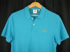 Lacoste Live Mens Short Sleeve Polo Style Washed Blue Shirt Size EU4 USA M