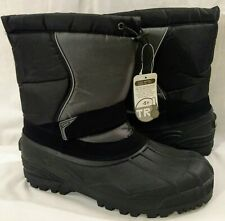 Mens Snow Boots Size 13 Black & Gray Reflective New