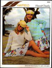 Vintage Knitting Pattern, Hayfield  Ladies Chunky Sweaters, 30-44in, 1852