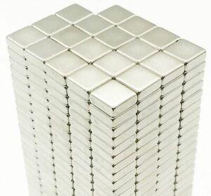 N35 Square NEODYMIUM MAGNETS Blocks Cube ~ 4mm, 6mm, 8mm, 10mm, 15mm x 2mm thick