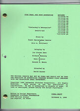 "STAR TREK: THE NEXT GENERATION script ""Yesterday's Enterprise"""