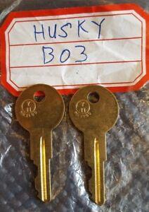 B03 key 2 NEW KEYS FOR HUSKY TOOL BOX KEY CODE B03 Home Depot tool box