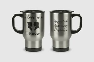 I Love You I Know Star Wars Quote Valentines Personalised Mug Gift Leia Han Solo