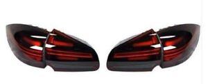 Genuine Porsche Cayenne 958 E2 II RHD Smoked Rear Black Lights Set 95804490066