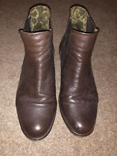 FLY LONDON Brown Leather Womens Wedge Ankle Boots Size 6 UK [ 39 EU ]