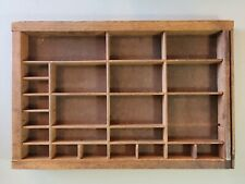Vintage Letterpress Print Block Tray Curio Display Ready To Hang165x11