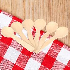 100pcs mini wooden spoons Condiments Ice-cream Sugar Salt Spoons Small 10cm