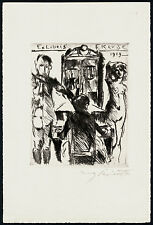 EXLIBRIS acquaforte di Lovis Corinth (Berlino) 1919