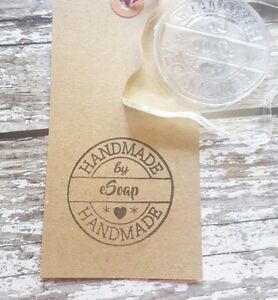 Personalised Handmade by Rubber Stamp Handmade by 'Your Name'
