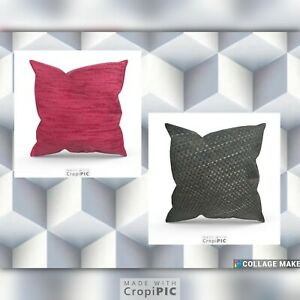 """Huge Cushions/Covers  Covers 22""""x 22"""" 24"""" x 24""""  NEXT FABRIC Large  Charcoal"""