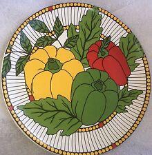 "R. B. BERNARDA PORTUGAL SALAD PLATE vegatable red yellow green PEPPER  8 1/4"""