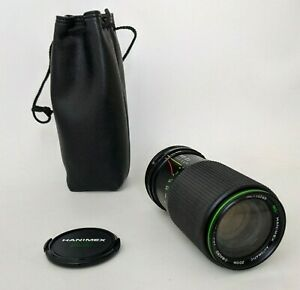 Hanimex One touch Zoom Lens MC 1:4.5 80-200 mm with case and covers
