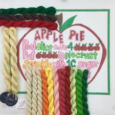 Hand painted Needlepoint Canvas KIT Apple Pie recipe by Renaissance Needlepoint