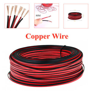 80M Motorcycle Lamp Line Extension Modified Lighting Copper Wire PVC Hose Cable