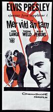 ELVIS PRESLEY ORIGINAL FILMPLAKAT LIED DES REBELLEN 1961 Wild in the Country