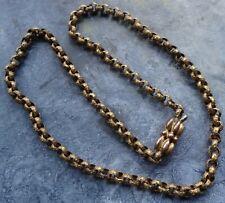 fancy chain necklace & clasp D148 antique Georgian Victorian pinchbeck gold tone