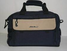 Diaper Bag Eddie Bauer Weekender Blue Tan Changing Mat Bottle Holders Y