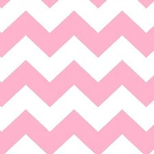 Fabric Baby Chevron Pink on White Flannel 1/4 Yard