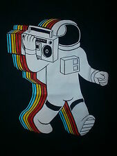 ASTRONAUT JAMBOX T SHIRT Retro Throwback Rainbow Tracer THREADLESS Funkalicious