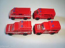 German Fire Engines Model Cars Set 1:87 H0 - Kinder Surprise Plastic Miniatures
