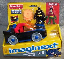 IMAGINEXT 2012/2013 DC SUPER FRIENDS BATMOBILE WITH BATMAN & ROBIN BONUS
