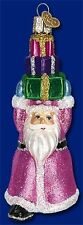 SHOPPING SANTA CLAUS OLD WORLD CHRISTMAS ORNAMENT IN PINK ROBE W/ PRESENTS 40220