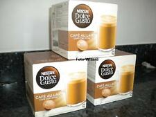 NESCAFE DOLCE GUSTO 48 CAFE AU LAIT PODS 3 PACKS OF 16 CAFE CON LECHE FREE P&P