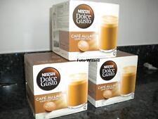Nescafe Dolce Gusto 48 Cafe Au Lait Cápsulas 3 paquetes de 16 café con leche Gratis P&P