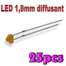 357/25# LED 1,8 mm orange diffusant 25pcs