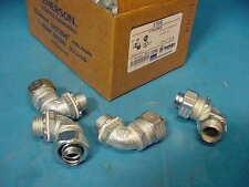 "4 Pieces OZ Gedney 4Q-150T 1/2"" Straig Liquid Tight Conduit Connector Flex Metal"