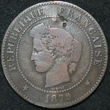 More details for 1879 a | france 5 centime 'anchor mint' | coins | km coins