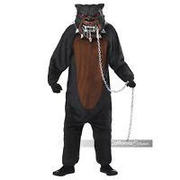 Boys Monster Pitbull Scary Dog Halloween Costume w/ Mask Child M L XL