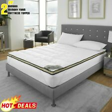 LUXURY CARBON TOPPER  Hotel Quality 4CM Extra Soft Breathable Mattress Protector