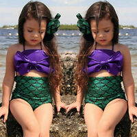EG_enfant pour filles La Petite Sirène Queue Baignable maillot de bain