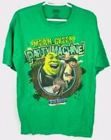 Shrek Forever After Mean Green Party Machine Blue Bunny Wells Green T-Shirt