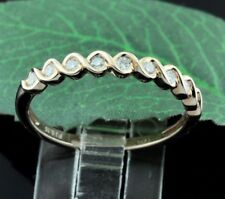 14k Solid Rose Gold Natural Diamond Ring  band  0.16 ct