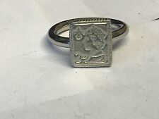 2nd Class Stamp TG136 Fine English Pewter on a Scarf Ring