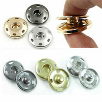 50 sets Metal Buttons Snap Fastener Press Stud Popper Sew On Sewing Fabric Craft