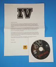 RockStar Games GTA IV Grand Theft Auto 4 Trailer DVD with letter RARE Promo