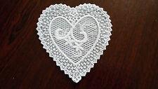 Large,White Guipure Lace,Applique,Trimmings,Wedding- Heart Motifs - 10cm x 9cm